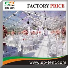 12mx50m mit transparentem Dach und Seitenwänden für Party- und Hochzeitsveranstaltungen