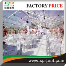 12mx50m with transparent roof and sidewalls for party and wedding events