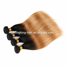 ombre color platinum silk stright blonde 100% human type hair extensions fast shipping cheap wholesale