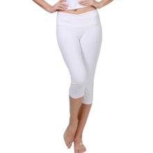 Le yoga sec de couleur blanche convient aux pantalons de yoga faits sur commande