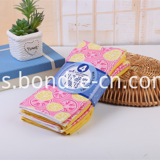 Printed Assorted Towels Pack (8)