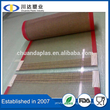 China Wholesale Food Grade Heat Resistant PTFE teflon coated fiberglass open mesh conveyor belt