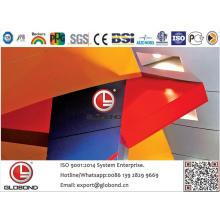 Globond Plus PVDF panel compuesto de aluminio (PF130)