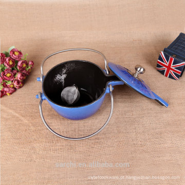2015 New Custom Esmalte de ferro fundido Teapot Chaleira de chá de ferro fundido