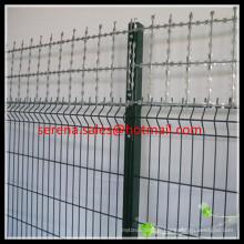 Clôture galvanisée à chaud de fil de rasoir de sécurité de soudure de grillage