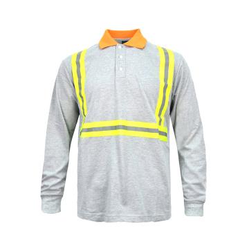 Camiseta de seguridad de algodón de alta visibilidad