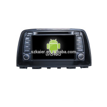 Quad core!car dvd with mirror link/DVR/TPMS/OBD2 for 8 inch touch screen quad core 4.4 Android system MAZDA 6