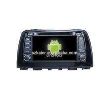 Quad core! Dvd do carro com link espelho / DVR / TPMS / OBD2 para 8 polegada tela sensível ao toque quad core 4.4 sistema Android MAZDA 6