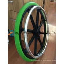 Roda de cadeira de rodas de espuma de poliuretano 24X1 3/8 sólido