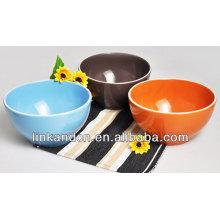 KC-04018promotion arroz de cerámica sólida / tazón de sopa, tazón de porcelana, cuenco divertido