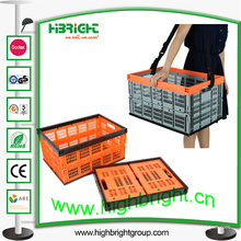 Caja plegable de plástico para almacenamiento de tomate