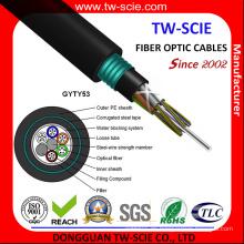 Cable directo de fibra entierro resistente a roedores Gyty53