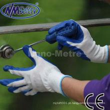 NMSAFETY amostra grátis mecânico lubrificante azul nitrilo luva