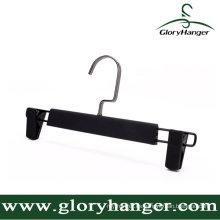 DIP Rubber Paint Plastic Pant Hanger con dos clips