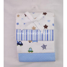 4-Pack Flannel Receiving Blankets --star and stripe theme