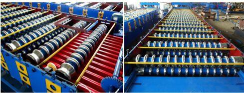 Rollo de techo corrugado de forma la máquina y máquina formada rollo de chapa metálico