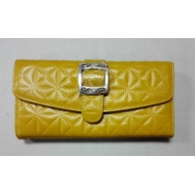 Guangzhou Supplier Designer Embossed Leather Women Wallet Purse (W183)
