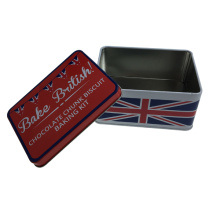Bandeira da Inglaterra Print Metal Gift Tin Container for Food Packaging Box