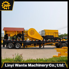Energy saved mobile stone crushing plant, mobile crushing and screening plant