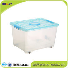Large Transparent Plastic Storage Box with Lid
