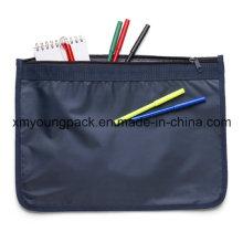70d Nylon A4 Größe Zipper Dokumententasche für Werbegeschenk