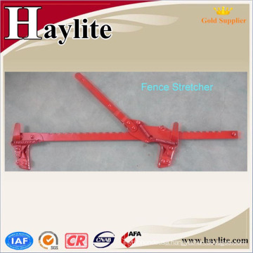 Electric fence wire stretcher