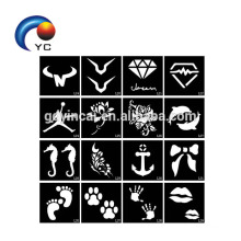Tattoo Stencils for Body Painting Glitter Temporary Henna Stencils Kit