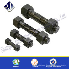 Hot sale stud bolt and nut High strength stud bolt and nut Black finished B7 Metric size stud bolt
