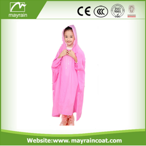 Waterproof PE Material Poncho de chuva descartable