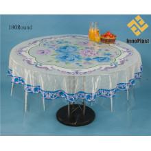 Diseño independiente PVC transparente mesa redonda