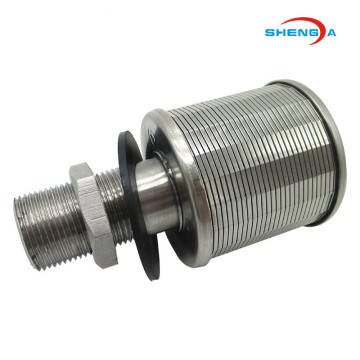 Keluli tahan karat Wedge Wire Single Headed Filter Nozzle