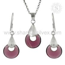 Stunning jóias de prata jóias de prata conjunto 925 jóias de prata esterlina jóias por atacado