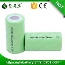 Batterie rechargeable NIMH 1.2V SC 1600mAh de machine-outil