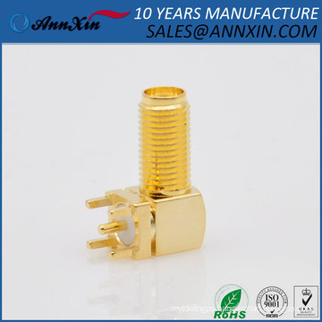 manufacturer right angle RF PCB panel mount female sma connector