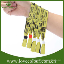 Free sample and fast delivery polyester woven wristband