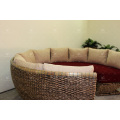 Exclusive Hot Trendy Design Water Hyacinth Round Sofa Set For Indoor Living Room Natural Wicker Furniture