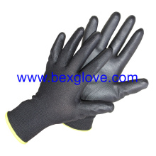 18 Gauge Nylon Liner, PU Coated Glove