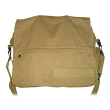 100% Cotton Canvas Military Shoulder Bag with Cover