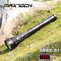 Maximoch SN6X-21 850m 3 * 26650 Batería Militar LED Larga linterna de tiempo de ejecución