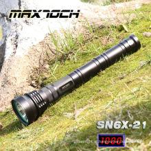 Maxtoch SN6X-21 850m 3 * 26650 bateria militar LED lanterna de longa duração