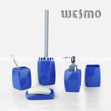Producto del hogar Blue Polyresin Bath Set (WBP0292B)