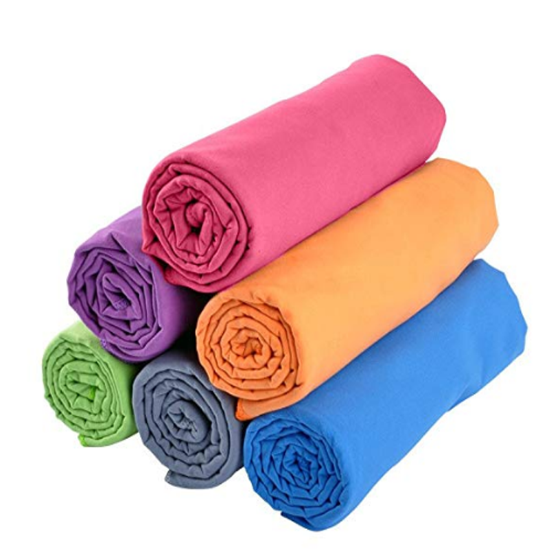 Muliticolored Microfiber Sports Towels