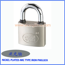 Factory Wholesale Waterproof Nickel Plated Arc Type Padlock