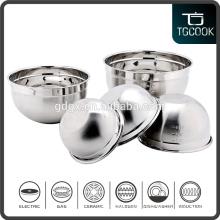 European Food grade stainless steel salad bowl/metal mixing bowl/measureing bowl