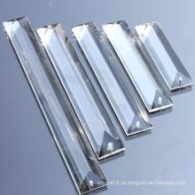 Triângulo de cristal por atacado para acessórios de iluminação de cortina de grânulo & pingente