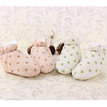 Sapatos de bebê de algodão orgânico macio morno com Design extravagante