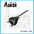 EU Certificate PVC Winch Cable Ac Power Cord wire harness with 250V