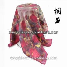 Seideschal Tongshi des Digitaldruckgewohnheitdesigns kundenspezifisches alibaba Porzellan 2015