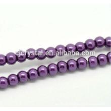Alta qualidade de jóias de pérolas de vidro em massa