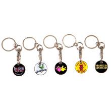 Kundenspezifisches Logo verschiedene Arten Eisen-Laufkatze-Münzen-Schlüsselringe